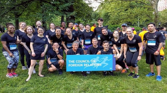 Team CFR at the J.P. Morgan Corporate Challenge